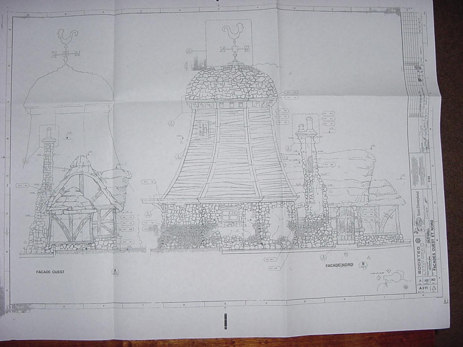 Disneyland paris blueprints price 999 shipping weight 1 lb malvernweather Images